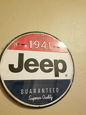 New JEEP Since 1941 Embossed Metal Tin Sign Vintage superior quality decor wall