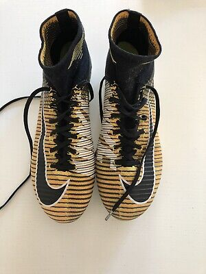 NIke Mercurial Superfly V FG Football Boots Chrome Yellow Black - Size UK 7