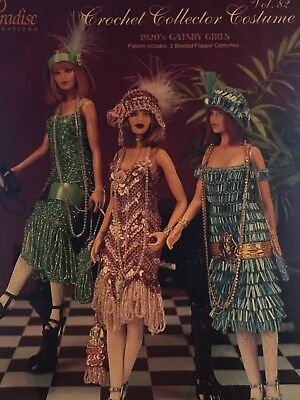 Fashion Doll Roaring Twenties costumes Paradise publications crochet pattern 82