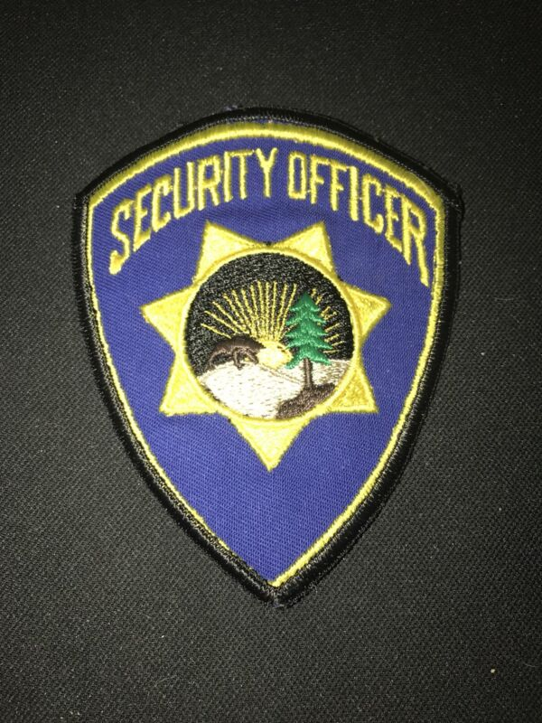 State Park Security Officer Badge Patch Blue And Gold Triangle