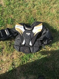 175 for pads trapper and blocker  chest 50 mask 50 pants 25