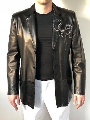 Very Rare Gianni Versace leather Jacket L (David Beckham ,Elton John)