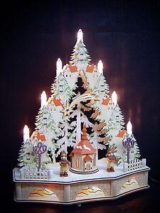 LED-Arco-Di-Luci-Arco-Di-Luci-Punta-3D-Con-sua-Chiesa-Sottopiano-33x41cm-10188