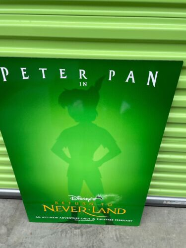 """PETER PAN NEVERLAND THICK BOARD MOVIE THEATER POSTER 40"""" X 27"""""""