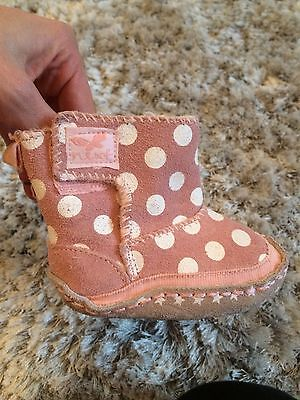Next Pink Spot Boot Pram shoes Size 1