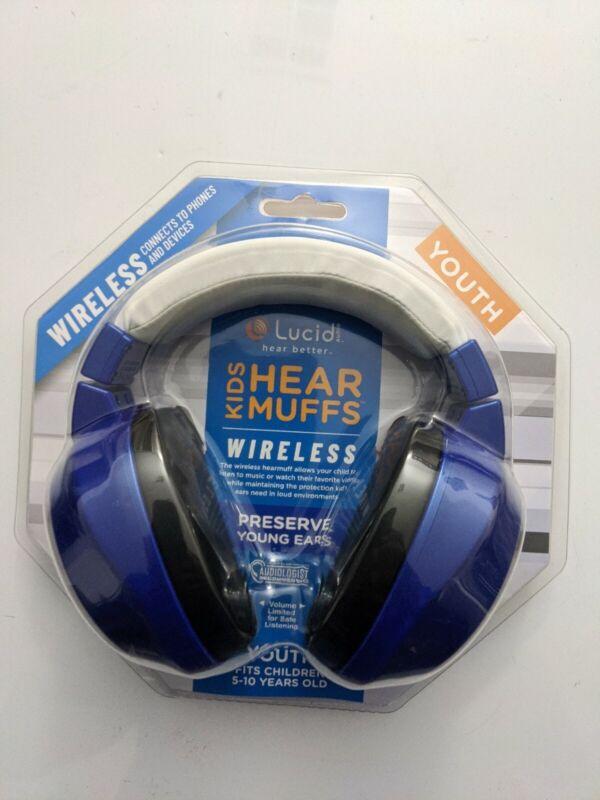 Lucid Audio Bluetooth HearMuffs for Children - Ear Muffs for 5-10 Years