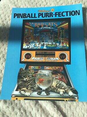 Bad Cats pinball Machine flyer