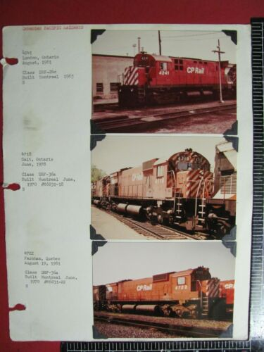 LOT of 6 COLOR PHOTOS CANADIAN PACIFIC RAILWAY LOCOMOTIVES in ONTARIO & QUEBEC