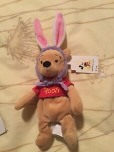 Disney MBBP Easter Bunny Pooh with Walt Disney World tag