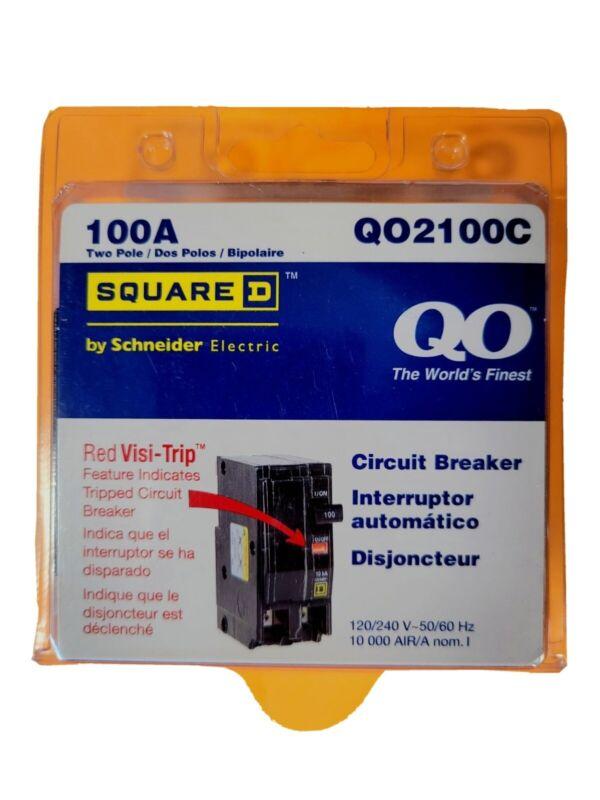 Square D QO2100C Miniature Circuit Breaker - 100 A, 2 Pole, 120/240 VAC