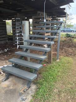 Stairs, steel stringers concrete treads. Banyo Brisbane North East Preview