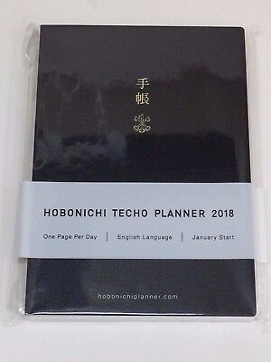 Hobonichi Techo 2018 A6 Planner English Notebook January Monday Start JAPAN