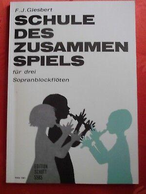 Schule des Zusammenspiels f. 3 Sopranblockflöten Schott ED 5585 komplett
