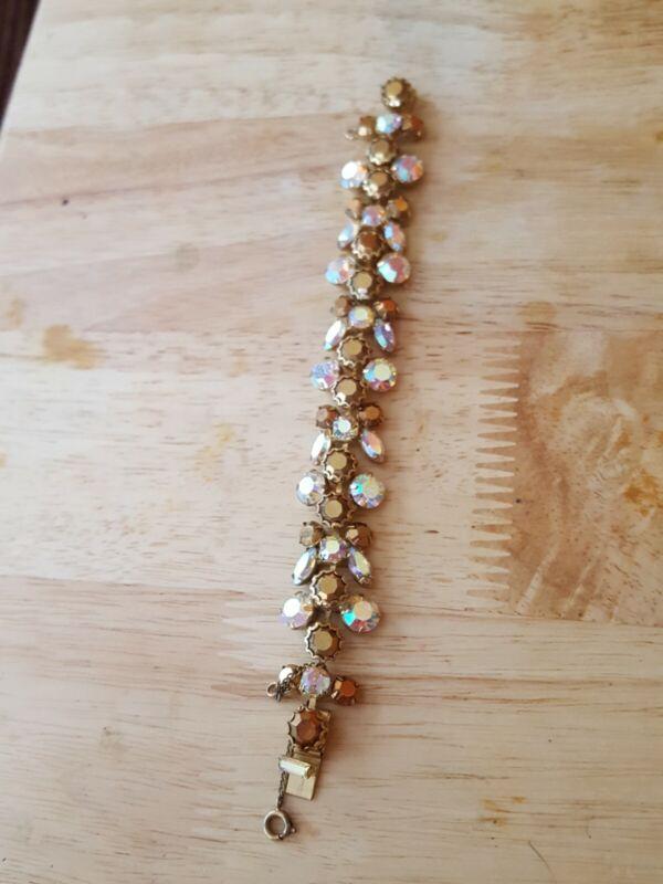 Vintage Regency rhinestone bracelet