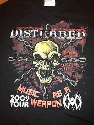 DISTURBED MUSIC AS A WEAPON 2009 TOUR KILLSWITCH ENGAGE LAGUNA COIL CHIMAIRA T3