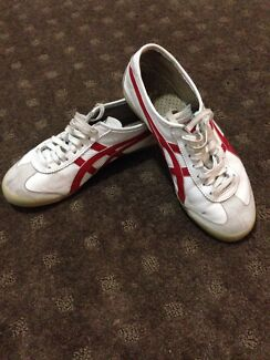Preowned asic tiger shoes white red Liverpool Liverpool Area Preview