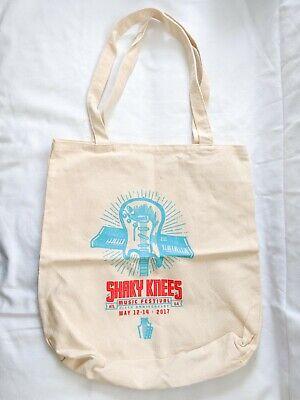 Shaky Knees Music Festival 2017 Canvas Tote Bag Souvenir Atlanta ATL