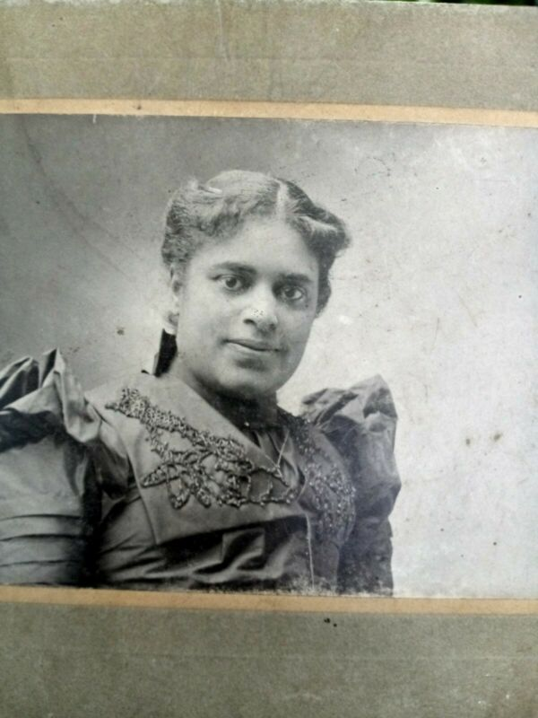 1890s Full figured African american cabinet card from Seattle Washington