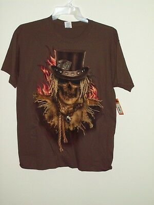 Brown Halloween (New Halloween Scary Scarecrow Brown T Shirt Mens)