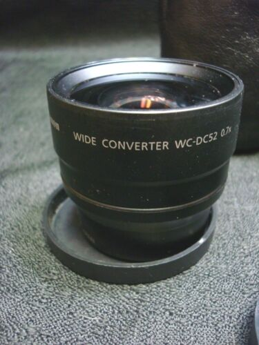 Canon Wide Converter WC-DC52 and Canon Adapter LA-DC52 with case.