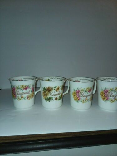 E&R golden crown bone china coffee mugs