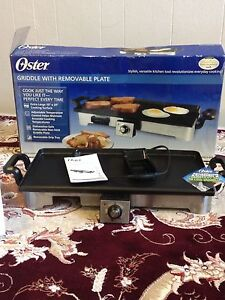Oster griddle with removable plate