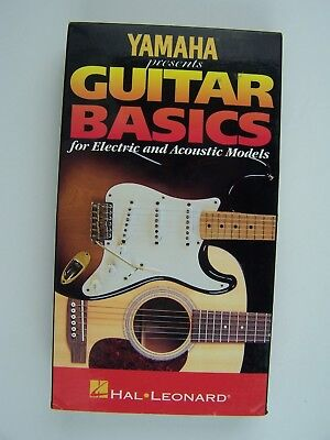 Yamaha Presents Guitar Basics Electric & Acoustic VHS for sale  Shipping to India