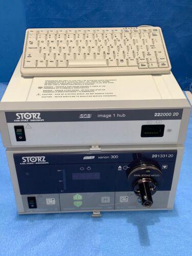 STORZ 222000-20 IMAGE 1 HUB Endoscopy Camera Console with 20133120 Light Source