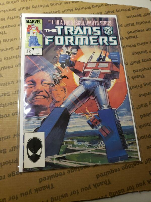 The Transformers #1,#2,#3,#4 and #8 all 1st Printing (Sep 1984, Marvel)