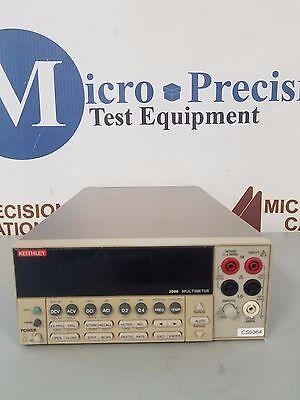 Keithley 2000 Digital Multimeter  Unit Powers On   As Is
