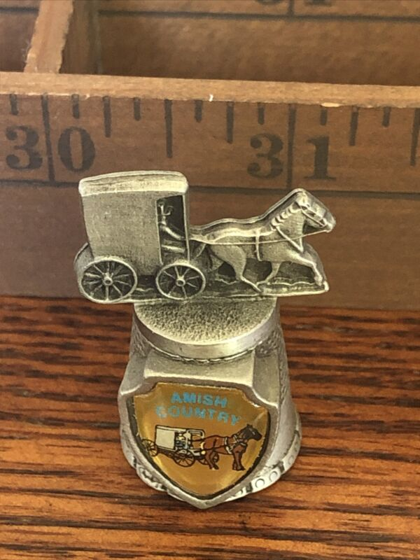 Thimble Pewter Amish Country Buggy