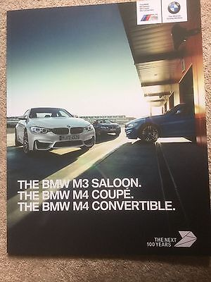 BMW M3 M4 & M4 CONVERTIBLE BROCHURE UK 50 PAGES FAST POST