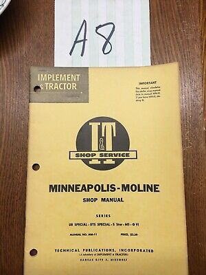 It Minneapolis-moline Ub Uts Special 5 Star M5 G Vi Tractor Shop Service Manual