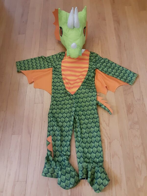 🐲 Green DRAGON Toddler Kid child size 2 2T 3 3T Play Pretend Fun Warm Costume!