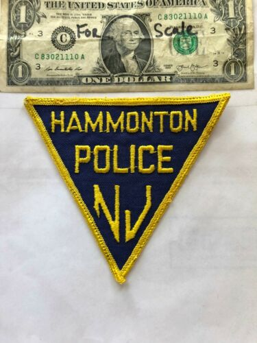 Hammonton New Jersey Police Patch Pre-sewn in good Shape
