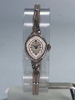 Vintage Estate Waltham 23 Jewel 10K White Gold Filled Ladies Watch