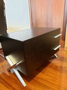 2 x Bedside Drawers (Solid!!! Stainless Steel legs and handles)