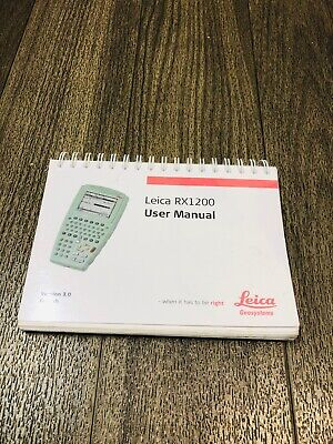Leica Rx1200 Data Collector User Manual For Surveying
