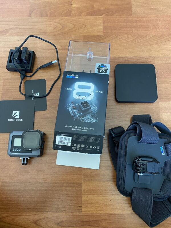 GoPro HERO8 Black Includes Filters, 2 extra batteries, and a body strap