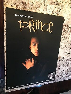 Prince 2001 very best of black promo poster MINT condition NEW NOS MINT 24X18