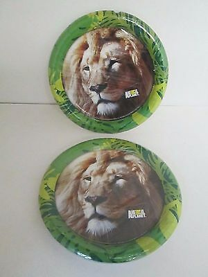 Animal Planet Lion Paper Luncheon Plates 8pk - - Animal Planet Party Supplies