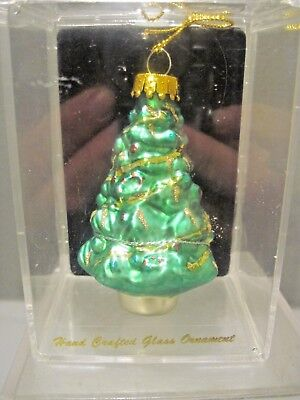 UNIQUE TREASURES HAND CRAFTED GLASS CHRISTMAS ORNAMENT IN CLEAR CASE Clear Glass Ornament Craft