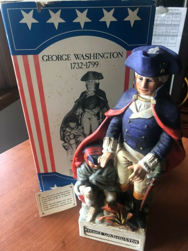 VINTAGE PORCELAIN MCCORMICK WHISKEY LTD EDITION GEORGE WASHINGTON EMPTY DECANTER