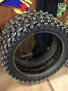 Professional ice racing tires