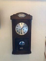 Antique Wall Clock Chime Clock Regulator 1920th century*JUNGHANS*