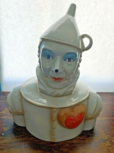 Rare The Wonderful Wizard Of Oz Tin Man Cookie Jar Unbranded MINT HEART