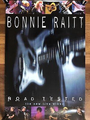 Bonnie Raitt Road Tested RARE Double-sided Promo Poster '95