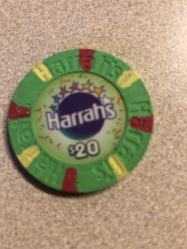 $20 harrahs 5 star las vegas nevada  casino chip super rare