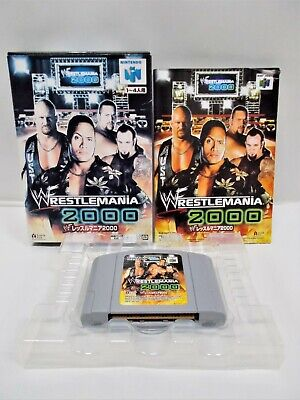 N64 -- Wrestle Mania 2000 -- Boxed. CanSave! Nintendo 64, Japan. Game. 31045