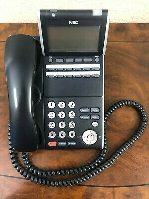 Lot Of 10 Nec Dt800 Itl-12d-3 Bk Black 12-button Ip Display Phone